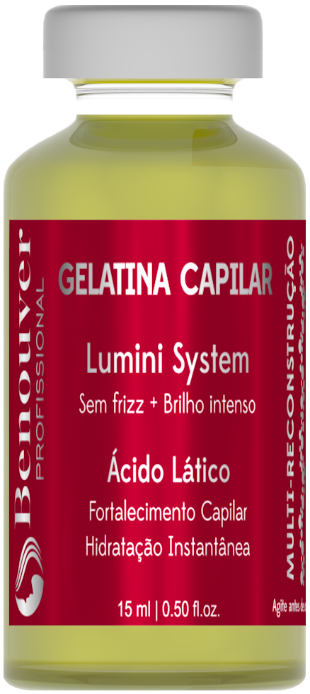 Ampola Gelatina Capilar Benouver Profissional 15ml  - Benouver Profissional