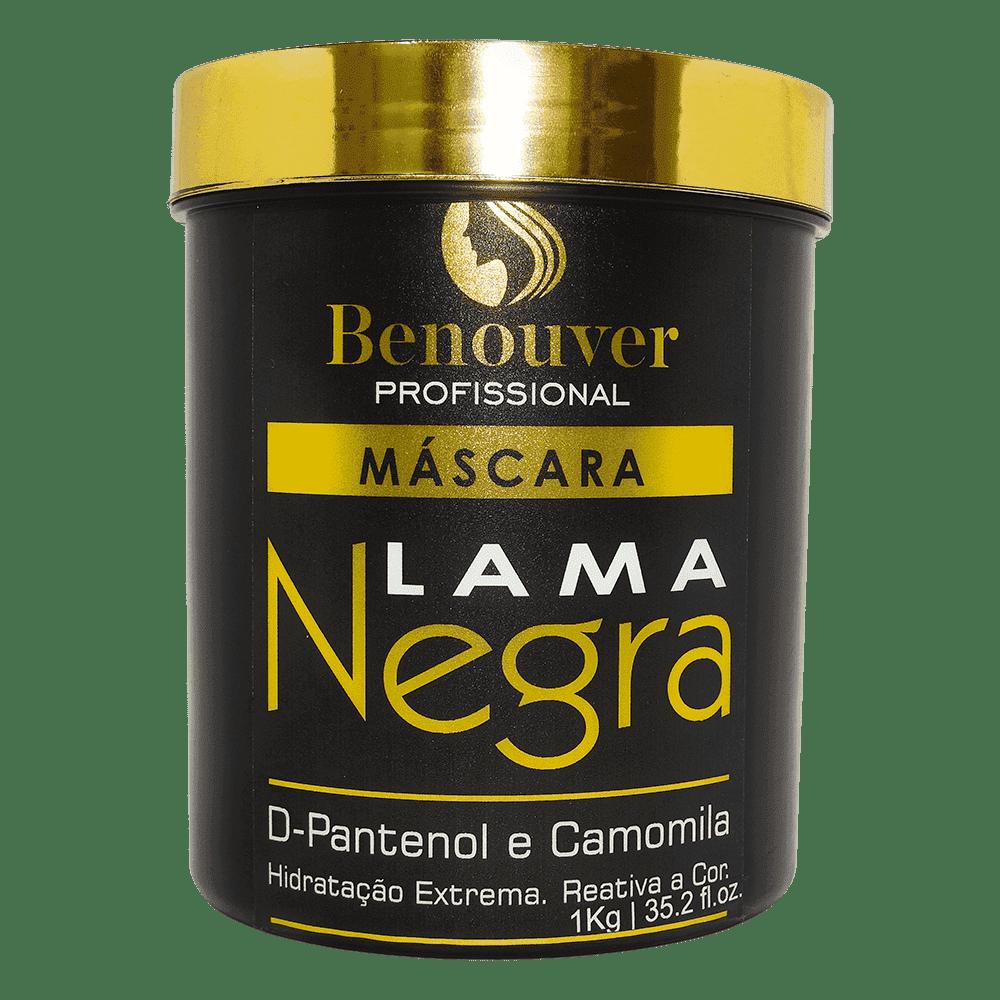 Máscara Lama Negra Benouver Profissional 1KG  - Benouver Profissional