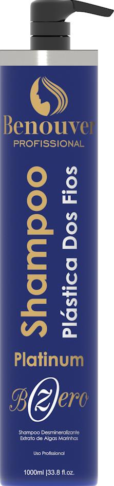 Shampoo Anti-estático Plástica Capilar Bzero Matizadora Benouver Profissional 1000ml  - Benouver Profissional