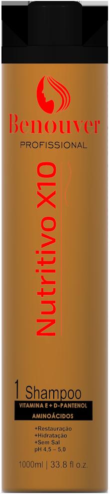 Shampoo Cauterização Benouver Clinic Repair Bio Molecular 1000ml