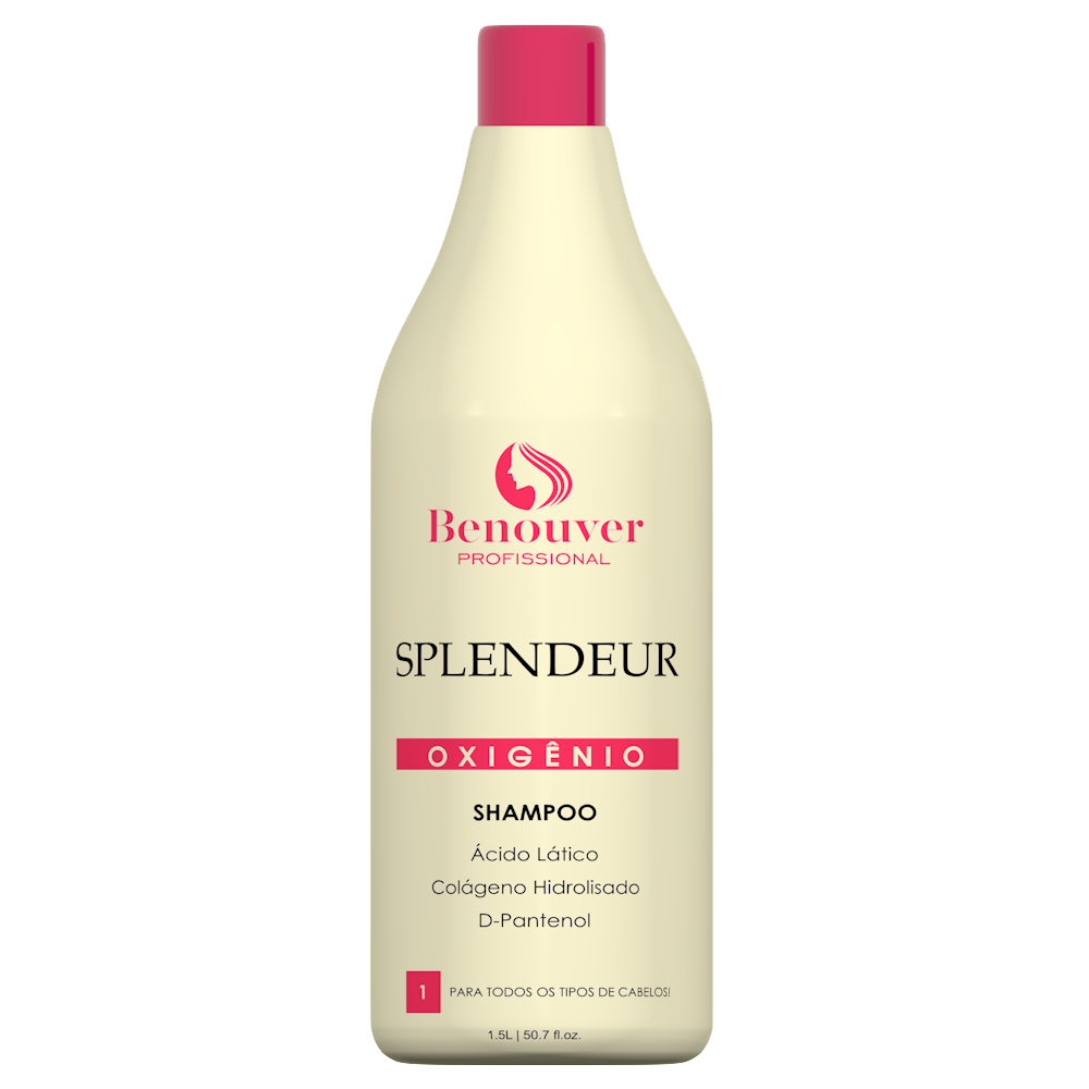 Shampoo Clinic Splendeur Tratamento intensivo Benouver Profissional 1500ml  - Benouver Profissional
