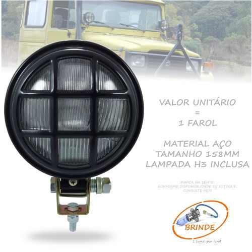 Farol Milha Manejo Off Road C/ Grade Jeep Troller Toyota 4x4