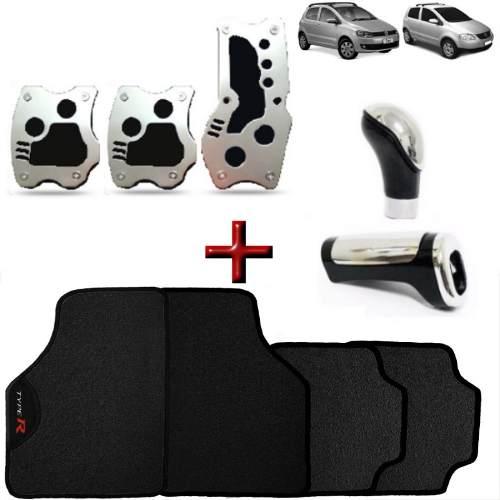 Kit Tuning Fox Tapete Type R Pedaleira Manopla Bola Cambio