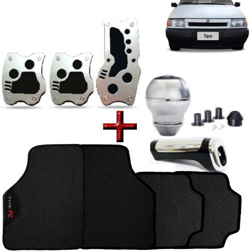 Kit Tuning Tipo Tapete Pedaleira Type R Manopla Bola Cambio
