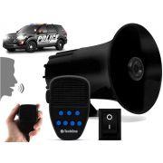 Sirene Automotiva 7 Tons Microfone Rontan Policia Bombeiro