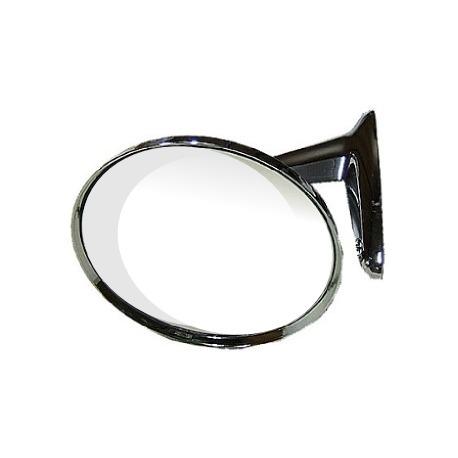 Espelho Retrovisor Cromado Redondo Classico