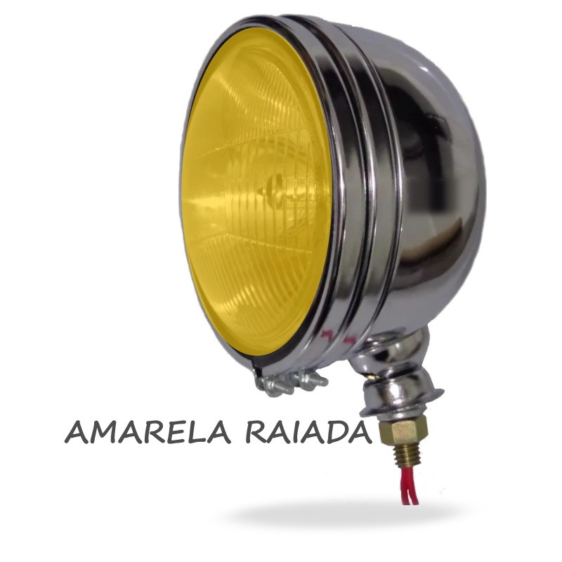 Farol Milha Off Road Fusca Rat Hood Ride German Look Hot Rod