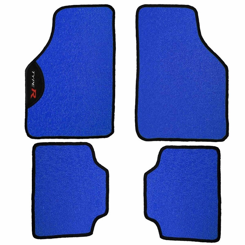 Kit Tapete Carro Automotivo Universal PVC Bordado Type R