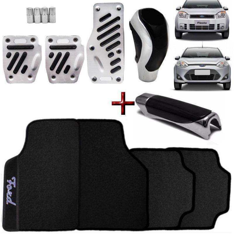 Kit Tuning Ford Fiesta Tapete Pedaleiras Manoplas Freio e Bola de Câmbio