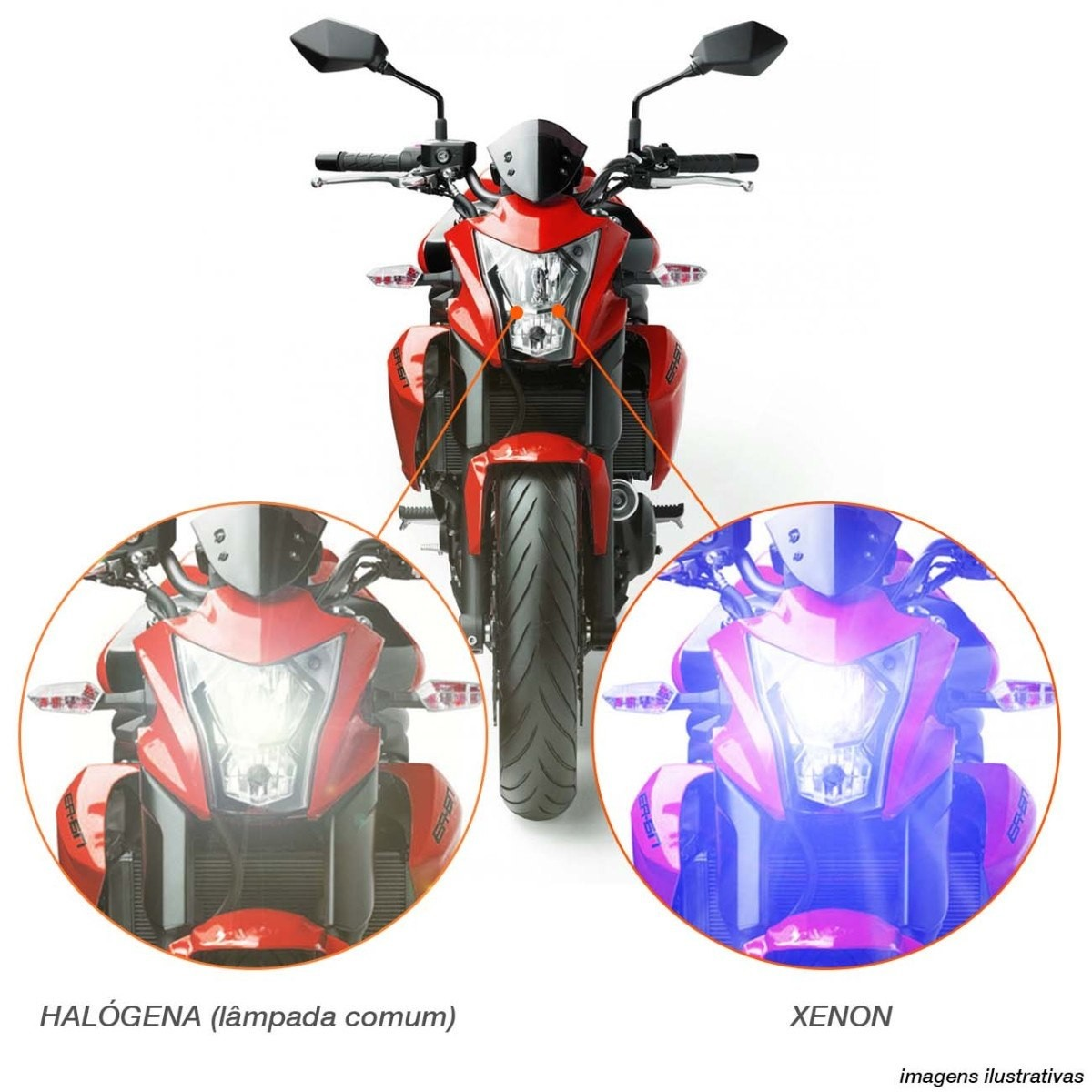Kit Xenon Moto Hid Slim 8000k H1 H3 H4-2 H7 HB4