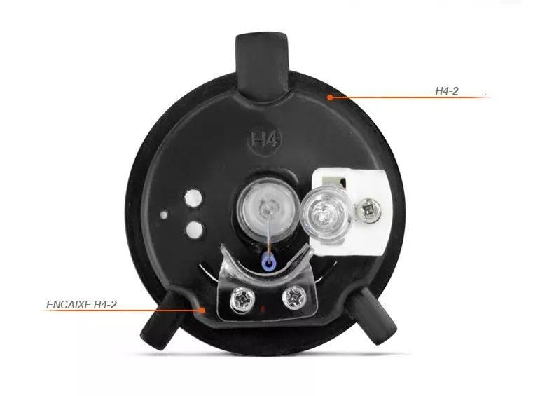 Kit Xenon Moto Reator Slim Digital 8000k H4-2