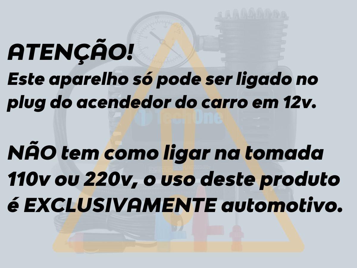 Mini Compressor De Ar 300psi 12v P/ Pneu Carro Bicicleta Moto Boia Piscina Inflável Casa Sitio Camping Emergência - Techone