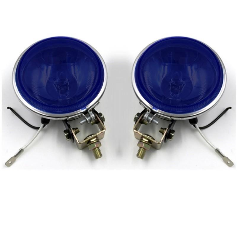 Par Farol Milha Azul Escuro Auxiliar Off Road 92mm Universal