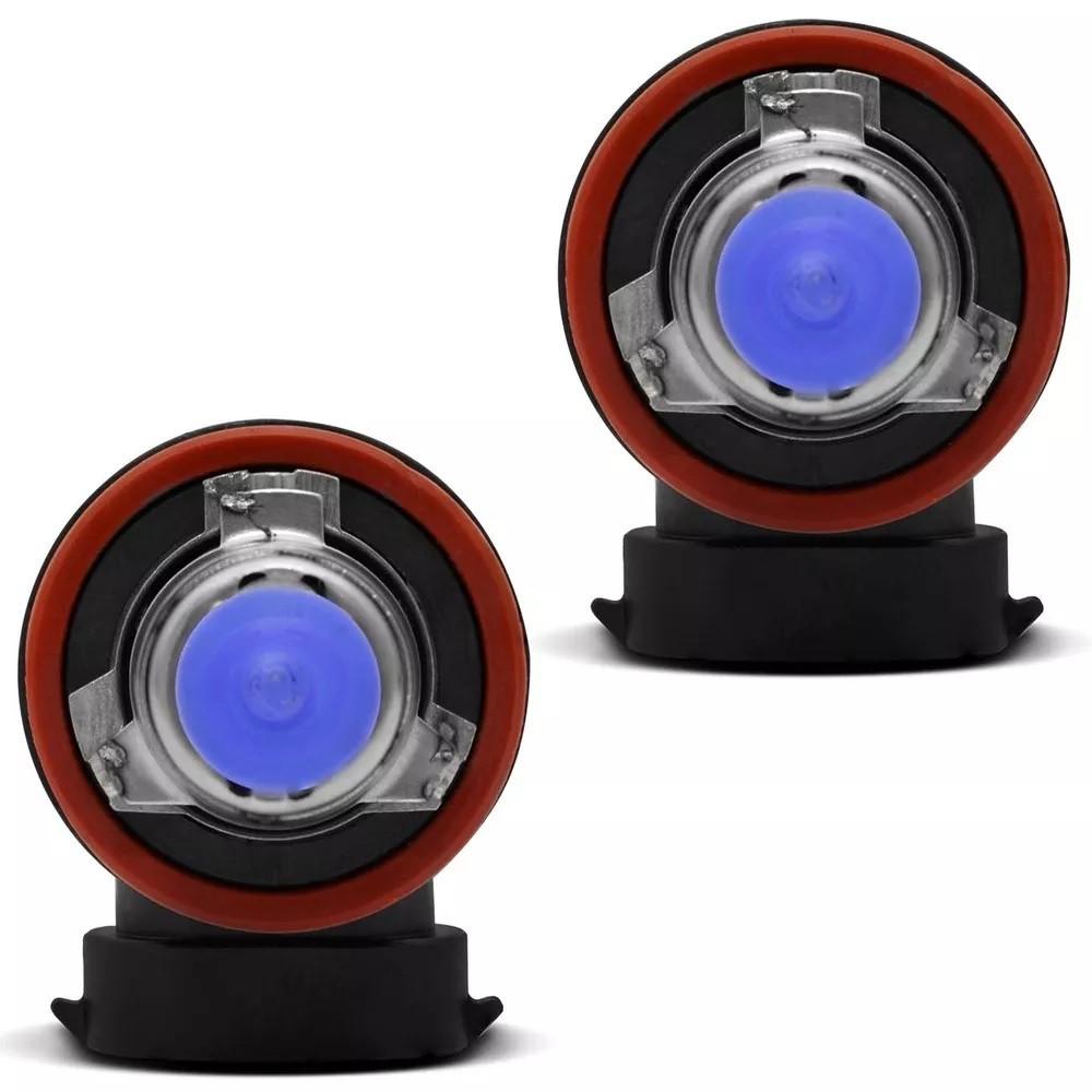 Par Lampadas Milha H11 8500K Super Brancas Tech One Inmetro