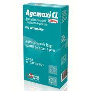 Agemoxi CL 250 mg - Antibacteriano para Cães e Gatos à base de Amoxicilina Triidratada e Clavulanato de Potássio