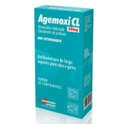 Agemoxi CL 50mg - Antibacteriano Cães e Gatos à base de Amoxicilina Triidratada e Clavulanato de Potássio 10comp Agen