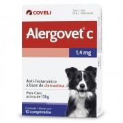 Alergovet C 1,4mg - Anti-histamínico a base de Clemastina para Cães acima de 15 kg (10 comprimidos) - Coveli