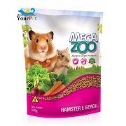 Alimento Super Premium Completo para Hamster, Gerbils e outros roedores com tendências granívoras - Mega Zoo (350g)