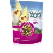 Alimento Super Premium MegaZoo Mix Calopsitas, Agapornis e outros psitacídeos de médio porte (350g)