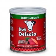 Alimento úmido 100% Natural Pet Delícia Caçarolinha de Carne para Cães Adultos (320g)
