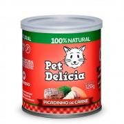 Alimento úmido 100% Natural Pet Delícia Picadinho de Carne para Gatos Adultos (320g)
