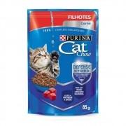 Alimento úmido Cat Chow Filhotes Carne ao molho para Gatos - Nestlé Purina (85g)