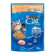 Alimento úmido Cat Chow Filhotes Frango ao molho para Gatos - Nestlé Purina (85g)
