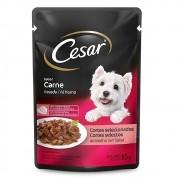 Alimento úmido Cesar Cortes Selecionados Carne Assada ao Molho para Cães Adultos - Mars (85g)
