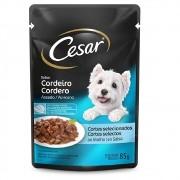 Alimento úmido Cesar Cortes Selecionados Cordeiro Assado ao Molho para Cães Adultos - Mars (85g)