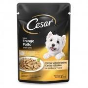 Alimento úmido Cesar Cortes Selecionados Frango Assado ao Molho para Cães Adultos - Mars (85g)