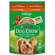 Alimento úmido Dog Chow Sachê Sabor Carne Raças Pequenas para Cães Adultos extra life- Nestlé Purina (100g)