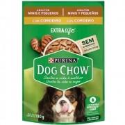 Alimento úmido Dog Chow Sachê Sabor Cordeiro Raças Pequenas para Cães Adultos extra life - Nestlé Purina (100g)