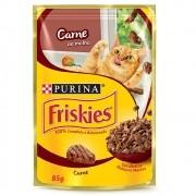 Alimento úmido Friskies Sachê Carne ao Molho para Gatos Adultos - Nestlé Purina (85g)