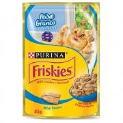 Alimento úmido Friskies Sachê Peixe Branco ao Molho para Gatos Adultos - Nestlé Purina (85g)