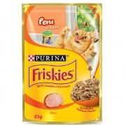 Alimento úmido Friskies Sachê Peru ao Molho para Gatos Adultos - Nestlé Purina (85g)