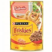 Alimento úmido Friskies Sachê Salmão ao Molho para Gatos Adultos - Nestlé Purina (85g)