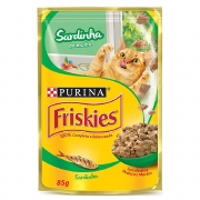 Alimento úmido Friskies Sachê Sardinha ao Molho para Gatos Adultos - Nestlé Purina (85g)