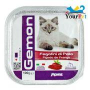 Alimento Úmido Gemon Patê Fígado de Frango para Gatos - Monge (100g)