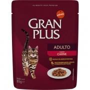 Alimento úmido Gran Plus Sachê Adulto Carne para Gatos - Affinity Guabi (85g)