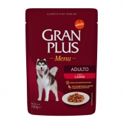 Alimento úmido Gran Plus Sachê Menu Carne para Cães Adultos - Affinity Guabi (100g)