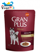 Alimento úmido Gran Plus Sachê Menu Carne para Cães Adultos - Guabi (85g)