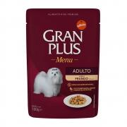 Alimento úmido Gran Plus Sachê Menu Frango para Cães Adultos - Affinity Guabi (100g)