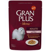Alimento úmido Gran Plus Sachê Menu Salmão para Cães Adultos - Affinity Guabi (100g)