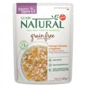 Alimento úmido Guabi Natural Grain Free Sachê Gatos Castrados Frango, Salmão e Vegetais - Affinity Guabi (85g)