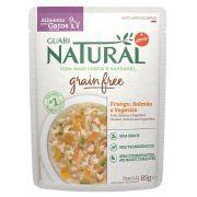 Alimento úmido Guabi Natural Grain Free Sachê Gatos Frango, Salmão e Vegetais - Affinity Guabi (85g)