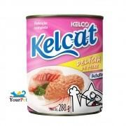 Alimento úmido Kelcat Lata Delícia de Peixe para Gatos Adultos (280g)