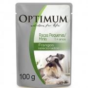 Alimento úmido Optimum Sachê Sabor Frango para Cães Adultos de Raças Pequenas / Minis  - Mars (100g)