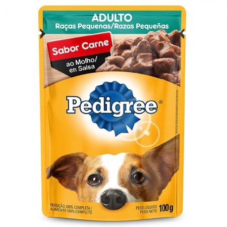 Alimento úmido Pedigree Raças Pequenas Sachê Sabor Carne ao Molho para Cães Adultos - Mars (100g)