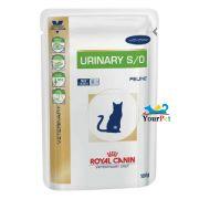 Alimento úmido Royal Canin Urinary Feline  S/O para Gatos com cálculos urinários (100g)
