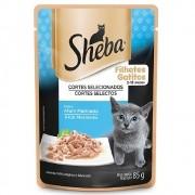 Alimento úmido Sheba Cortes Selecionados Atum Marinado para Gatos Filhotes - Mars (85g)